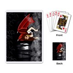 Crimson Wings Playing Cards Single Design