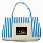 Crimson Wings Striped Blue Tote Bag