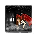 Crimson Wings Memory Card Reader with Storage (Square)