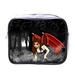 Crimson Wings Mini Toiletries Bag (One Side)