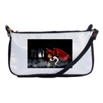 Crimson Wings Shoulder Clutch Bag