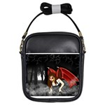 Crimson Wings Girls Sling Bag