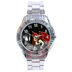Crimson Wings Stainless Steel Analogue Men's Watch