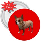 Chihuahua Dog Gifts BR 3  Button (10 pack)