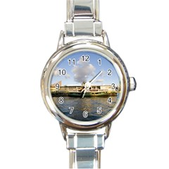 Hong Kong Ferry Round Italian Charm Watch by swimsuitscccc