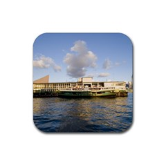 Hong Kong Ferry Rubber Square Coaster (4 Pack) by swimsuitscccc