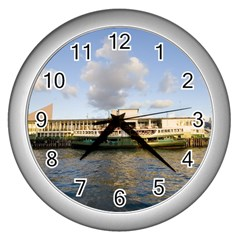 Hong Kong Ferry Wall Clock (silver) by swimsuitscccc