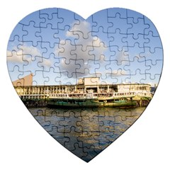 Hong Kong Ferry Jigsaw Puzzle (heart) by swimsuitscccc