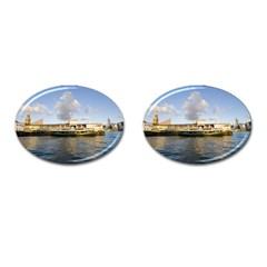 Hong Kong Ferry Cufflinks (oval) by swimsuitscccc