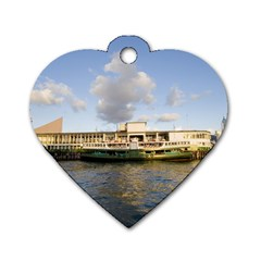 Hong Kong Ferry Dog Tag Heart (one Side) by swimsuitscccc