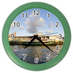 Hong Kong Ferry Color Wall Clock by swimsuitscccc