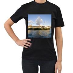 Hong Kong Ferry Women s Black T Shirt by swimsuitscccc