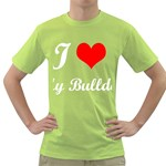 I-Love-My-Bulldog Green T-Shirt