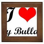I-Love-My-Bulldog Framed Tile