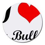I-Love-My-Bulldog Round Mousepad