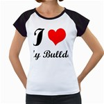I-Love-My-Bulldog Women s Cap Sleeve T