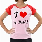 I-Love-My-Bulldog Women s Cap Sleeve T-Shirt