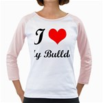 I-Love-My-Bulldog Girly Raglan
