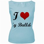 I-Love-My-Bulldog Women s Baby Blue Tank Top