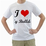 I-Love-My-Bulldog White T-Shirt