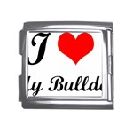 I-Love-My-Bulldog Mega Link Italian Charm (18mm)
