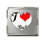 I-Love-My-Bulldog Mega Link Heart Italian Charm (18mm)
