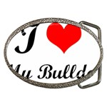 I-Love-My-Bulldog Belt Buckle