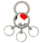 I-Love-My-Bulldog 3-Ring Key Chain