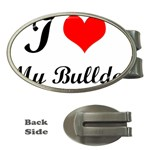 I-Love-My-Bulldog Money Clip (Oval)