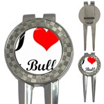 I-Love-My-Bulldog 3-in-1 Golf Divot