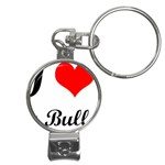 I-Love-My-Bulldog Nail Clippers Key Chain