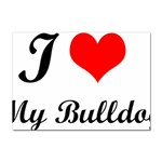 I-Love-My-Bulldog Sticker (A4)