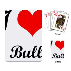 I Love My Bulldog Playing Cards Single Design by swimsuitscccc