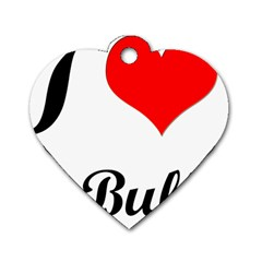 I Love My Bulldog Dog Tag Heart (one Side) by swimsuitscccc