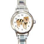 dog-photo Round Italian Charm Watch