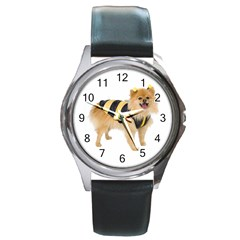 Dog Photo Round Metal Watch by swimsuitscccc