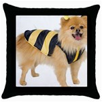 dog-photo Throw Pillow Case (Black)