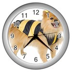 dog-photo Wall Clock (Silver)