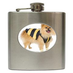 Dog Photo Hip Flask (6 Oz) by swimsuitscccc