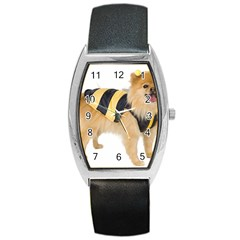 Dog Photo Barrel Style Metal Watch by swimsuitscccc