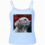 dog-photo cute Baby Blue Spaghetti Tank