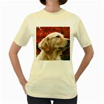dog-photo cute Women s Yellow T-Shirt