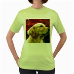 dog-photo cute Women s Green T-Shirt