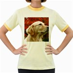 dog-photo cute Women s Fitted Ringer T-Shirt