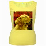 dog-photo cute Women s Yellow Tank Top