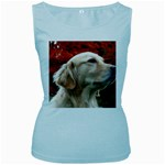 dog-photo cute Women s Baby Blue Tank Top