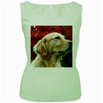 dog-photo cute Women s Green Tank Top