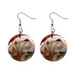 dog-photo cute 1  Button Earrings