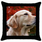 dog-photo cute Throw Pillow Case (Black)
