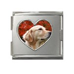dog-photo cute Mega Link Heart Italian Charm (18mm)